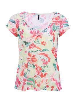 S2014427 Vega T-shirt a maniche corte  ampio scollo tondo e stampa floreale