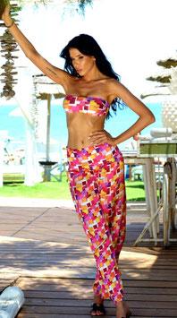 Pantalone quadri multicolor
