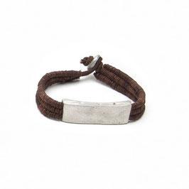 Bracciale cuoio Metallo