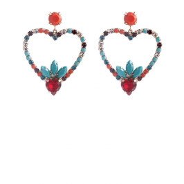 Orecchini Heart Strass simple