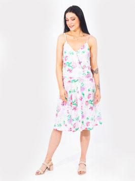 S2061428  Terentia senza maniche con motivo floreale rosa scollo a V
