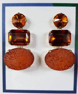 Orecchini castoni arancione