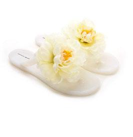 Infradito in Pvc con fiore