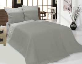 Bed Linen Set Single: 4 pcs (Duvet Cover, Flat Sheet, Two Pillow Cases)