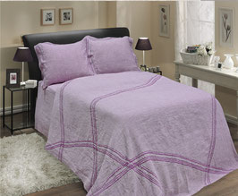 Bed Linen Set KING Washed Linen: 4 pcs (Duvet Cover, Flat Sheet, Two Pillow Cases)