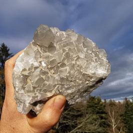 Edelcalcit aus dem  Kridenloch, Schächental (Uri)