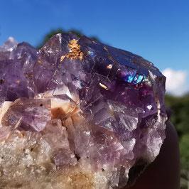 Violettes Fluoritstüfchen auf Baryt (6)