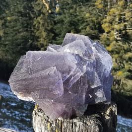 Blaugrauer Fluorit aus den Pyreneen