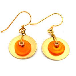 """Boucles d'oreilles """"Pop"""" Orange"""