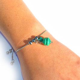 "Bracelet ajustable ""Pagode"" Bleu pétrole"