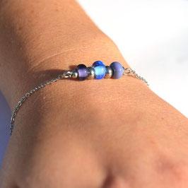 "Bracelet ""Trio"" Bleu-Violet"
