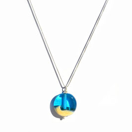"""Collier """"Itsasoa"""" Bleu turquoise"""