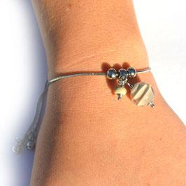 "Bracelet ajustable ""Pagode"" Taupe"