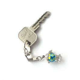 "Porte-clef ""Poisson"" Turquoise/Anis"
