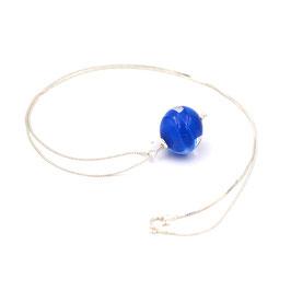 """Pendentif """"Pagode"""" Bleu électrique"""