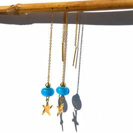 """Boucles d'oreilles """"Vénitiennes""""  -  Turquoise"""