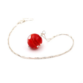 "Pendentif ""Pagode"" Rouge"