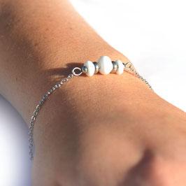 "Bracelet ""Trio"" Blanc"