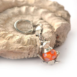 "Porte-clef ""Grenouille"" Orange"