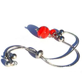 """Bracelet ajustable """"Pagode"""" Rouge"""