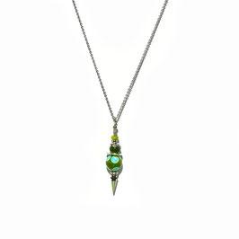 """Collier """"Pendule"""" Vert/Turquoise"""