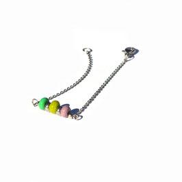 "Bracelet ""Trio"" Anis-Lila-Vert"