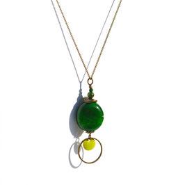"Sautoir ""Bohême""  -  Vert bouteille"