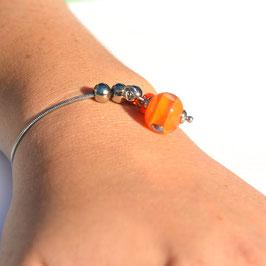 "Bracelet ajustable ""Pagode"" Mandarine"