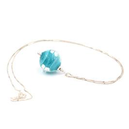 "Pendentif ""Pagode"" Bleu turquoise"