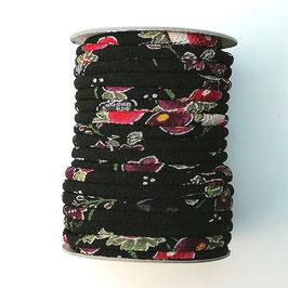 CORDON JAPONAIS 5mm : Noir - Rouge  BC