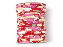 CORDON JAPONAIS 5mm : Rouge Rose DG
