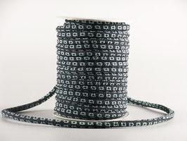 CORDON JAPONAIS 5mm : Noir-Vert P1b