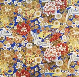 Tissu japonais : Grue en vol GR1