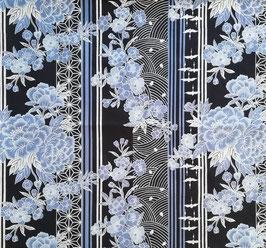 Tissu japonais : Mélange de fleurs sur TATEJIMA F29