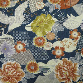 Tissu japonais gaufré : Grue GAU 11