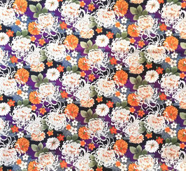 Tissu japonais : MINO KIKU  ( chrysanthème de MINO )  F32