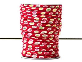 CORDON JAPONAIS 5mm : Rouge petits points U3