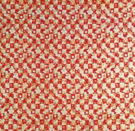 Tissu japonais : SAKURA sur le damier F28