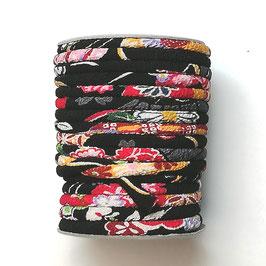 CORDON JAPONAIS 5mm : Noir - Rouge - Rose DT