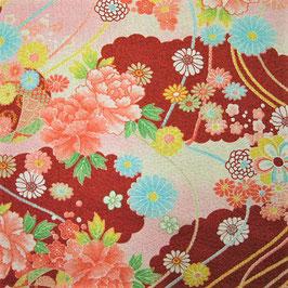 Tissu japonais gaufré : Nuage de fleurs GAU9