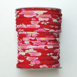 CORDON JAPONAIS 5mm : Rouge - Rose DY