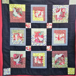 Kit de Patchwork : Grues rouge 鶴