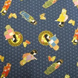 Tissu japonais : Filles en KIMONO  PER 1