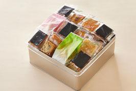 個包装おかき 缶入り詰め合わせ  味のにぎわい