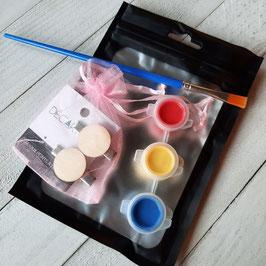 Kit DIY de barrettes (2) à peindre pour enfants, peintures incluses