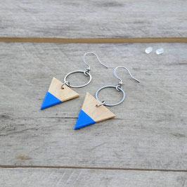 """Boucles d'oreilles triangles 3/4"""" avec anneau d'acier inoxydable"""