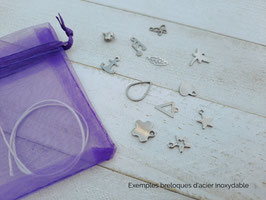 Ensemble DIY pour 6 ou 10 bracelets à assembler pour enfants - verre/pierre et acier inoxydable