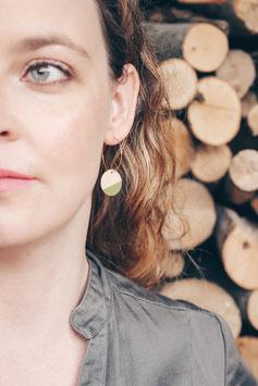 """Boucles d'oreilles en bois, rondes 3/4"""" sur anneaux créoles"""