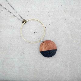 Collier rond avec anneaux de laiton (20 couleurs au choix!)