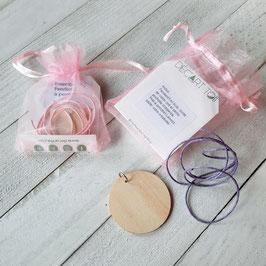 Kit DIY de pendentif (1) à peindre pour enfants - emballage au choix